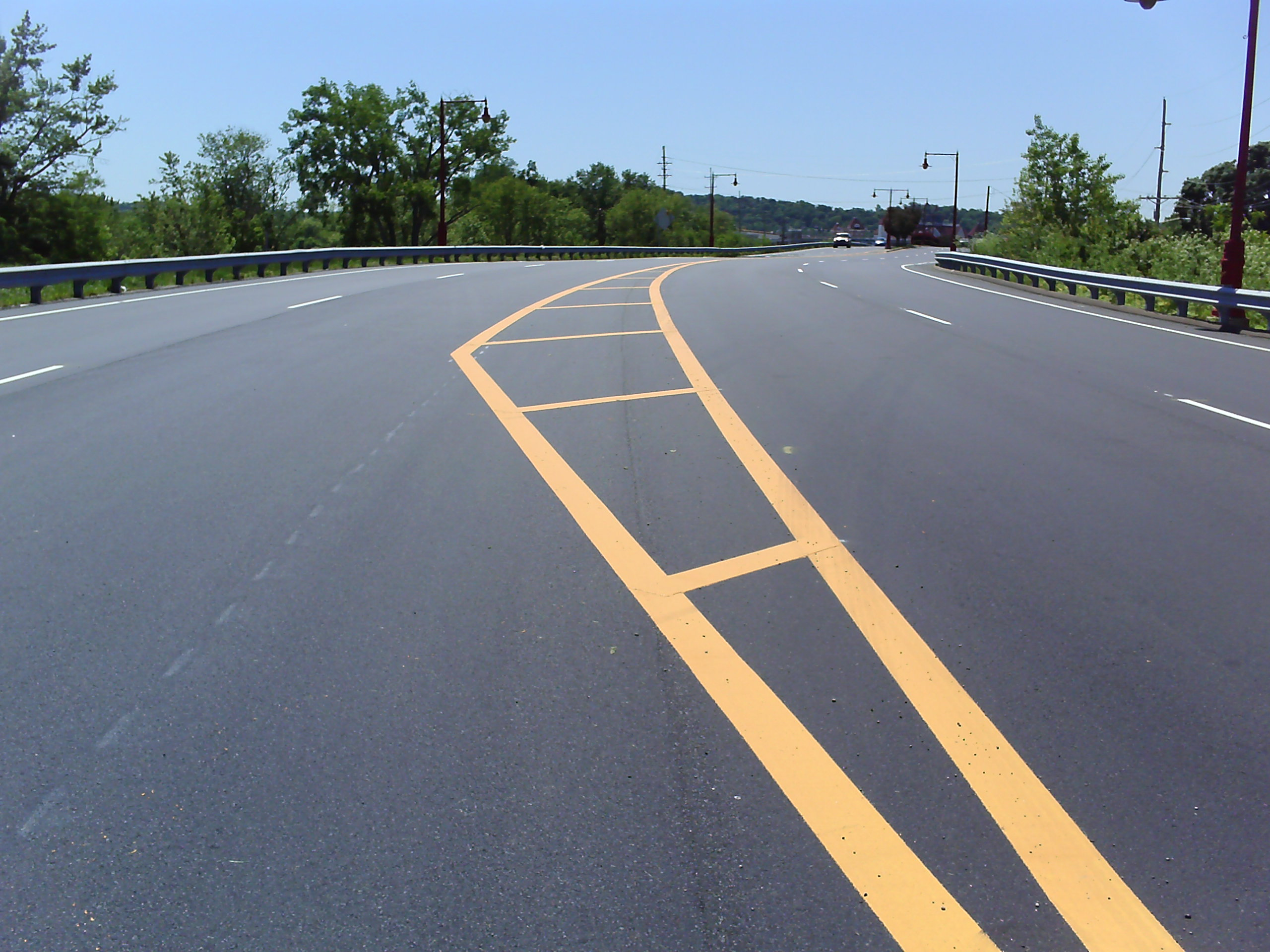 Thermoplastic Roadway Striping