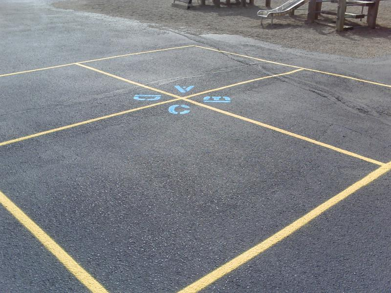 Four Square Striping